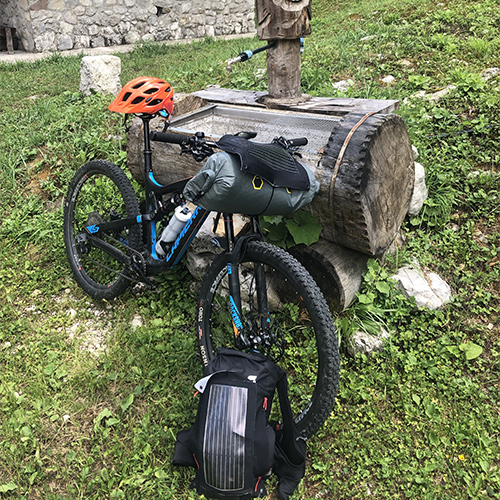 Solar charger Mountain bike